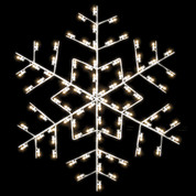 5' Winterfest Forked Snowflake - Post Over