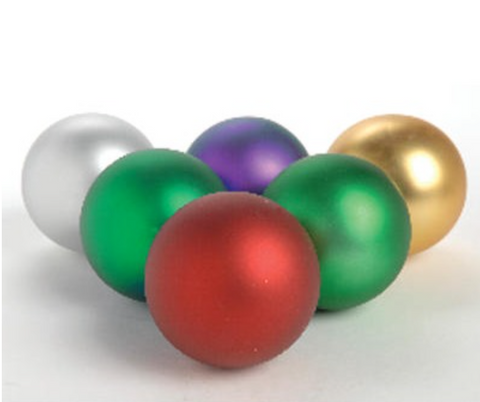 """These Superior Studio UV Ornaments come in a Matte finish that makes the ornaments durable and chip resistant.   The ornaments come in purple, green, red, cherry, gold, and silver.   The ornaments come in 4"""", 5 1/2"""", and 8"""" sizes.   Bulbs that are 4""""must be ordered by the dozen. 5 1/2"""" and 8"""" sizes must be ordered in per ornament quantities.   Customers ordering 30 ornaments our more call for discounted price"""