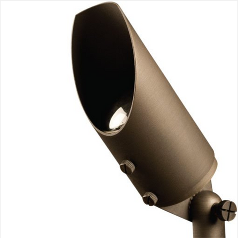 """Advantage Lightsource LED Big Smoky Flood Light ADV-LED-FL-105B-6W, these lights are used to highlight large trees, homes, walls, and hedge lines. They come with a stake mount but the base can be mounted on walls or other flat surfaces and adjusted appropriately. The bases can even be mounted on large trees to deliver the """"moon light"""" effect."""