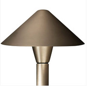 Advantage Lightsource Luna Flores Shade (Copper) Path Light ADV-AP-12C, Great for lighting for sidewalks and walk ways, as well as lighting your flower beds for night time viewing.