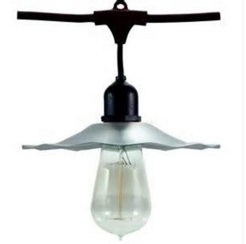 Sollos Bistro Lights DSL/52254M/3G-BK. Bistro Deco Strand Lighting. Decorative Accent Strand Lighting for Indoor and Outdoor Applications.