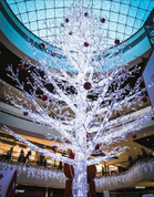 The Milwaukee Giant Tree has the appearance of a deciduous tree with no leaves, that is colored white and wrapped in white LEDs. Great for a winter wonderland display. This clever design and ultra bright tree comes in two different sizes.  Milwaukee Tree Giant Tree, this clever design and ultra bright tree comes in two different sizes.