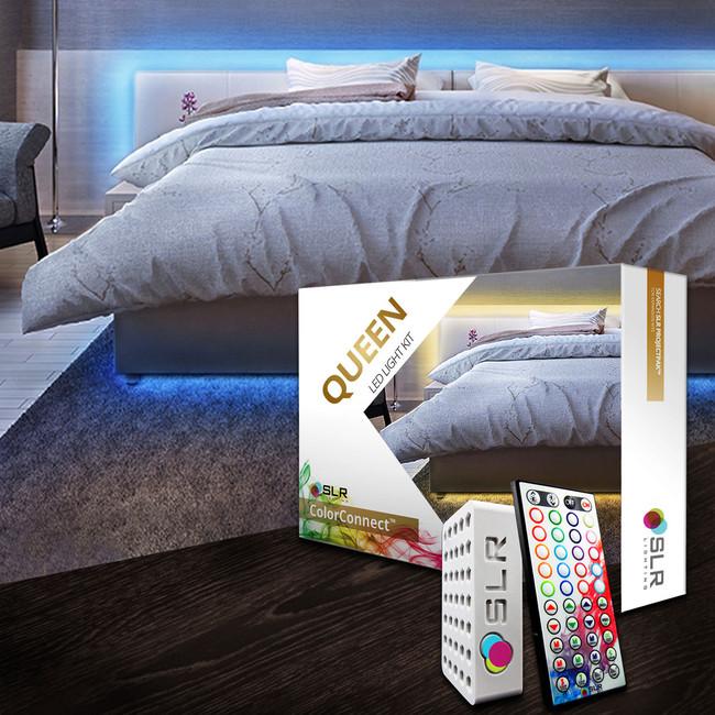bed lighting kit multicolor led accent lights for under bed u0026 headboards