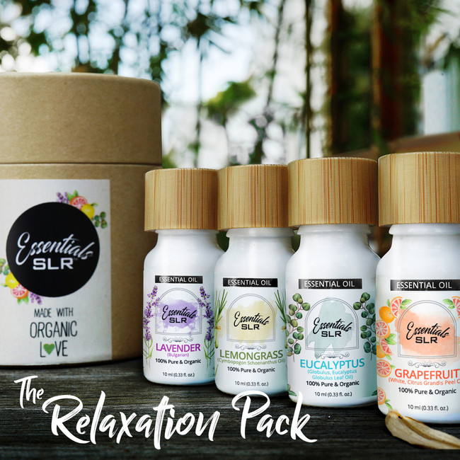 The Relaxation Pack (Eucalyptus, Grapefruit, Lavender & Lemongrass Essential Oils)