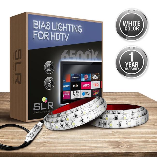 White USB Home Theater Bias Lighting Kit - 32 inch & Smaller