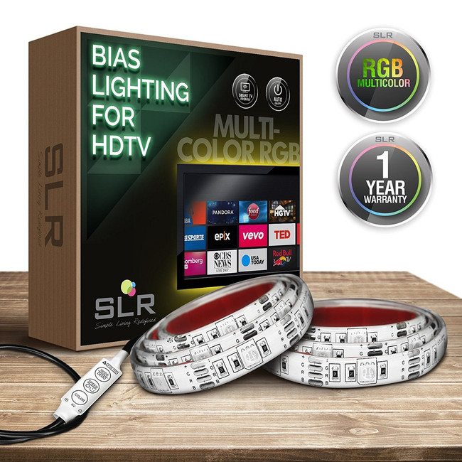 Multi-Color USB Home Theater Bias Lighting Kit - 32 inch & Smaller