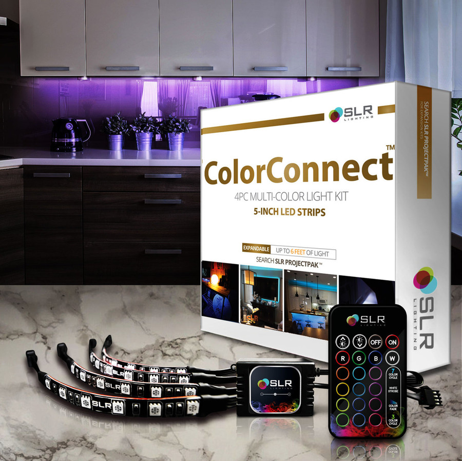 ColorConnect Kitchen Lighting Kit with 5-Inch LED Strips, Remote & Motion Sensor