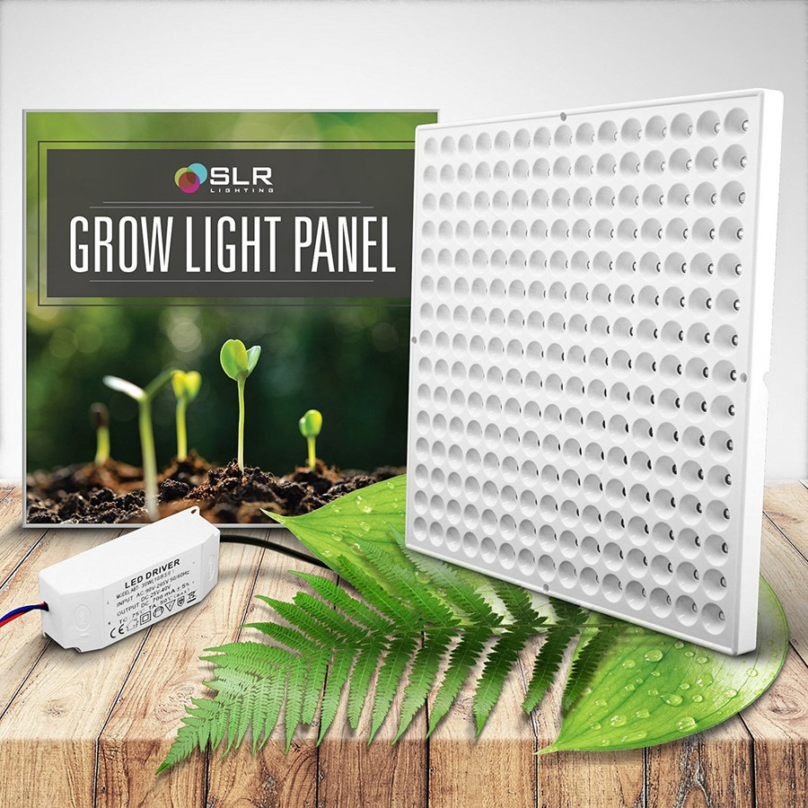 BioGlow LED Plant Grow Light Panel + Hanging Kit