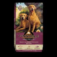 PINNACLE GRAIN FREE TROUT & SWEET POTATO DRY DOG FOOD