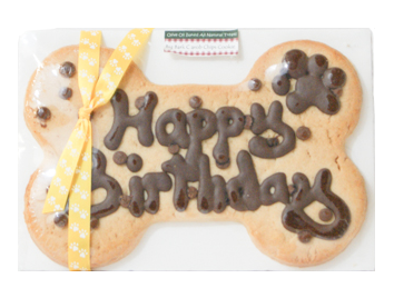 Dog Safe Carob Chip Birthday Cookie