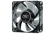 Deepcool Windblade 80 Semi Transparent 80mm Black Cooling Fan with Blue LED