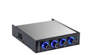 "Deepcool Rockman PWM 3.5"" bay 3 Channel Fan Controller with Blue LED"