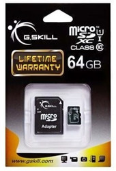 G.Skill MicroSDXC 64GB Class 10/UHS-1 with Adapter