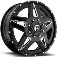 Fuel Off-Road Full Blown Front Dually Wheel - Black & Chrome