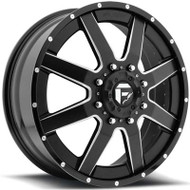 Fuel Off-Road Maverick Front Dually Wheel - Black/Milled