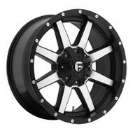 Fuel Off-Road Maverick Wheel - 1-Pc. Black & Machined