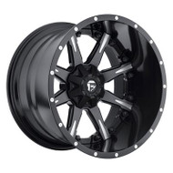 Fuel Off-Road Nutz Wheel - 2-Pc. Black & Milled