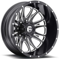 Fuel Off-Road Throttle Rear Dually Wheel - Black & Chrome