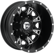 Fuel Off-Road Throttle Rear Dually Wheel - Black & Milled