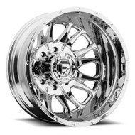 Fuel Off-Road Throttle Rear Dually Wheel - Chrome & Black