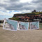 Whitby tea towels by the quay, Whitby