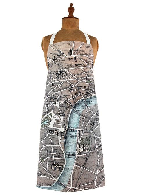 London Map Apron jane revitt shop