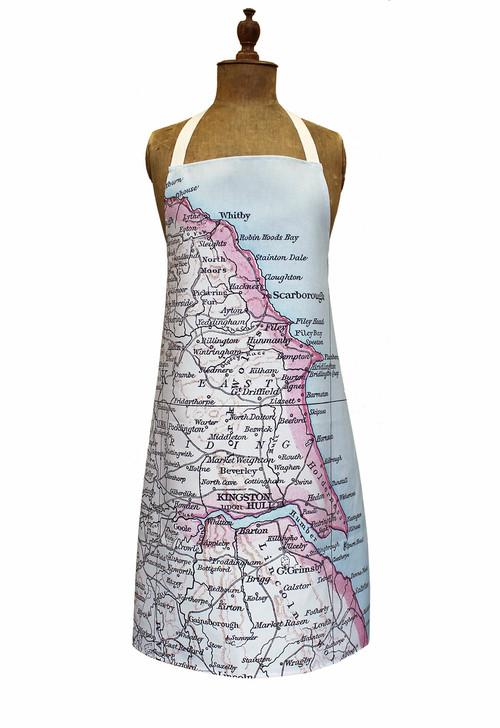 Yorkshire map apron , 1889 map. Jane Revitt Shop
