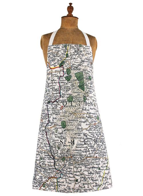 Nottinghamshire map apron jane revitt shop