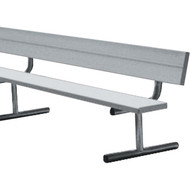 8' Aluminum Portable Bench c/w Back Rest