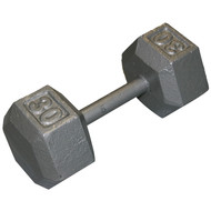 Cast Iron Hexagon Dumbell - 30 lbs