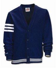 Rugby Cardigan - Navy/White