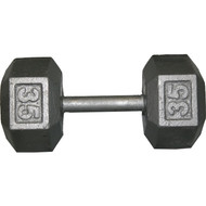 Cast Iron Hexagon Dumbell - 35 lbs