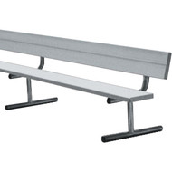 21' Aluminum Portable Bench c/w Back Rest