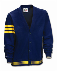 Rugby Cardigan - Navy/Gold