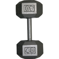 Cast Iron Hexagon Dumbell - 40 lbs