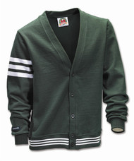 Rugby Cardigan - Bottle/White