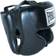 Everlast Leather Head Guard - Black