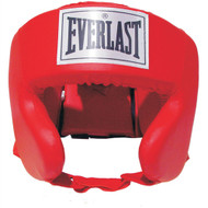 Everlast Durahide Head Guard - Youth Red