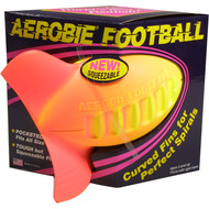 Aerobie football with turbo fins