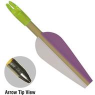 """Fibreglass 28"""" long Shaft 3 Vanes Arrows"""