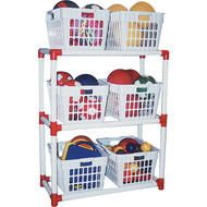 Basket rack storage system