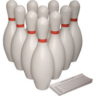 Bowling Pins Set - 10 pins plus score pad