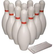 Bowling Pins Set - 10 pins plus score pad