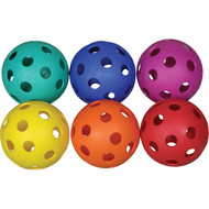 Softball Coloured Plastic Scoop Balls (Set of 6)