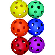 Baseball Coloured Plastic Scoop Balls (Set of 6)