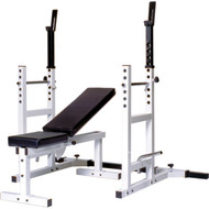 Flat/Adjustable Incline Bench w/bench press unit