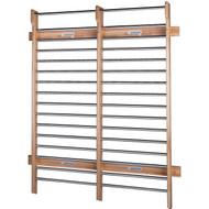 6' wide x 8' high chrome rungs wall bars
