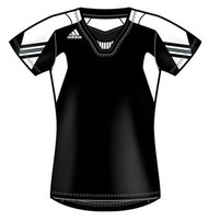Adidas Women's On Field Cap Sleeve Jersey - Black