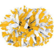 "Light Gold / White - 6"" Plastic Pom with baton handle"