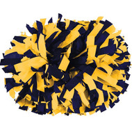 "Navy / Light Gold - 6"" Plastic Pom with baton handle"
